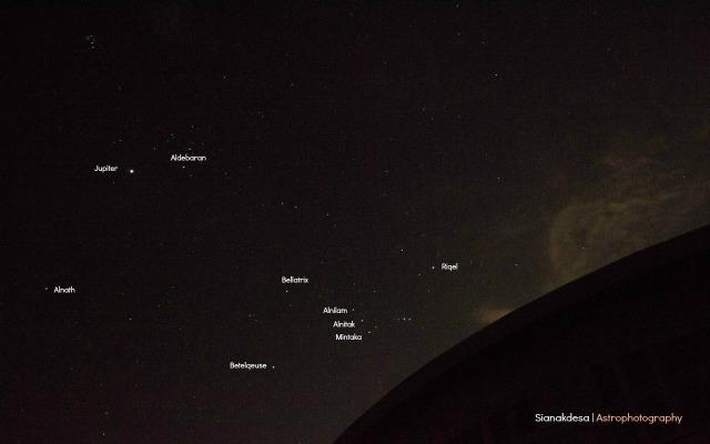 Observasi Jupiter dan Bintang Utara